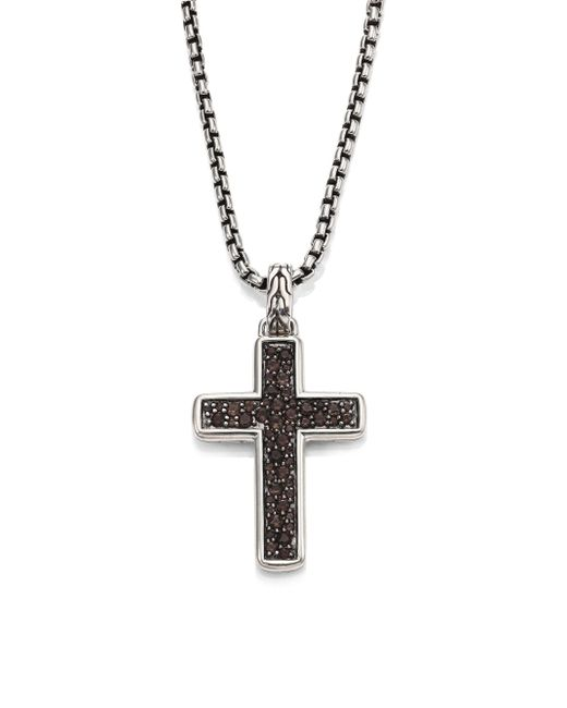 John Hardy - Metallic Classic Chain Collection Black Sapphire Sterling Silver Chain Necklace for Men - Lyst