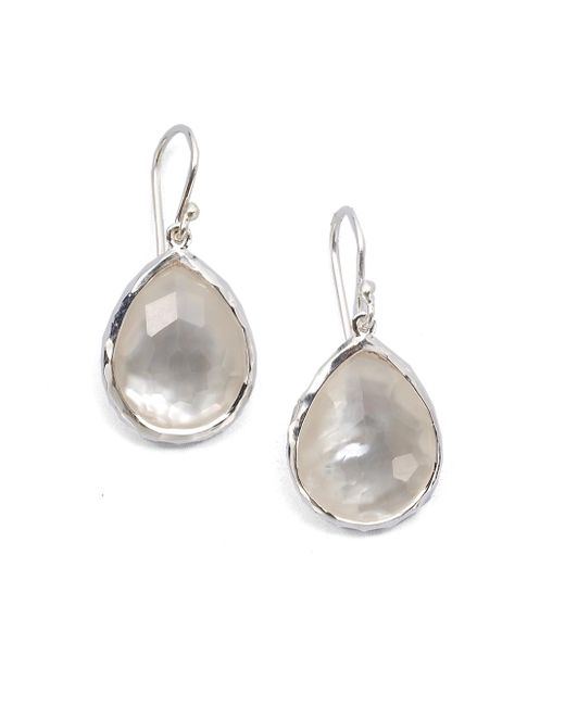 Ippolita - Metallic Wonderland Mother-of-pearl, Clear Quartz & Sterling Silver Mini Doublet Teardrop Earrings - Lyst
