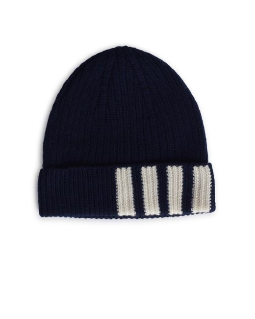 Thom Browne - Blue Ribbed Cashmere Beanie for Men - Lyst