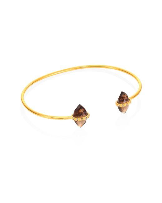 Chan Luu - Metallic Smokey Quartz Bangle Bracelet - Lyst