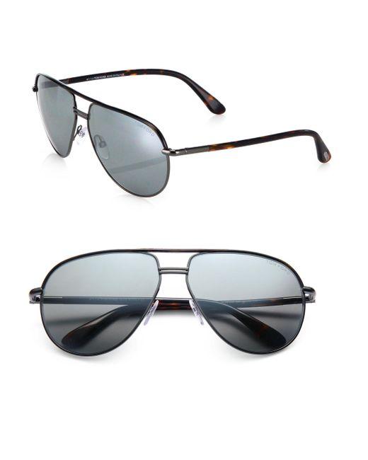 Tom Ford - Metallic Cole Metal Aviator Sunglasses - Lyst