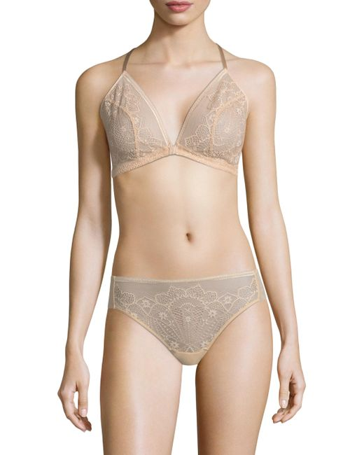 Wacoal - Natural Take The Plunge Wire Free Racerback Bra - Lyst