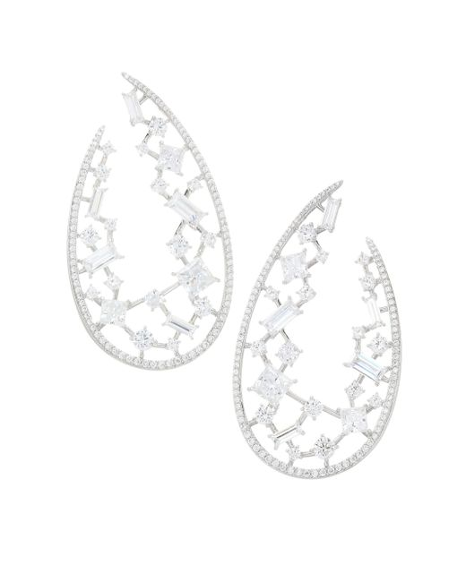 Adriana Orsini - Metallic Azure Wrap Hoop Earrings - Lyst