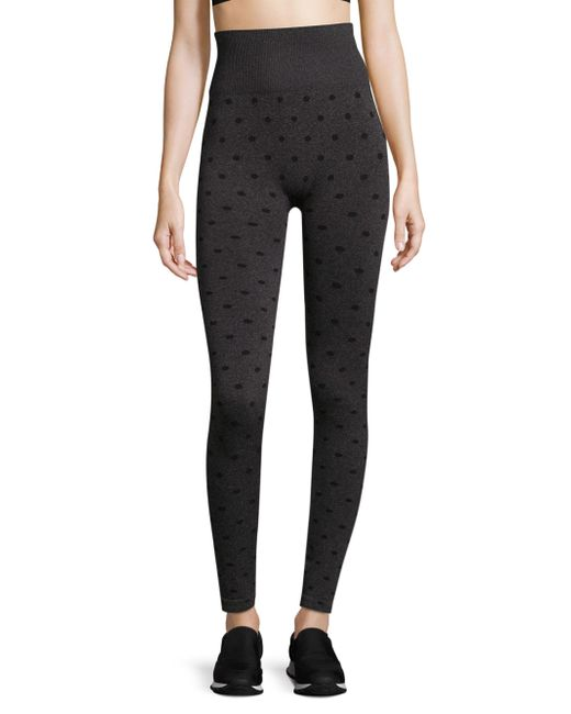 Phat Buddha - Black Seamless Polka Dot Leggings - Lyst