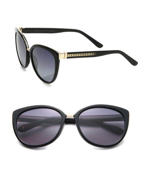 Jimmy Choo | Black Danas 56mm Modified Cat Eye Sunglasses | Lyst