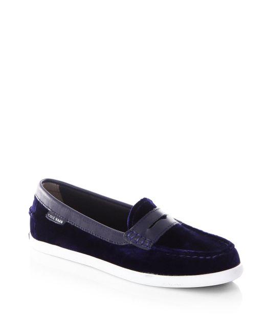 Cole Haan | Blue Pinch Weekender Velvet Penny Loafers for Men | Lyst