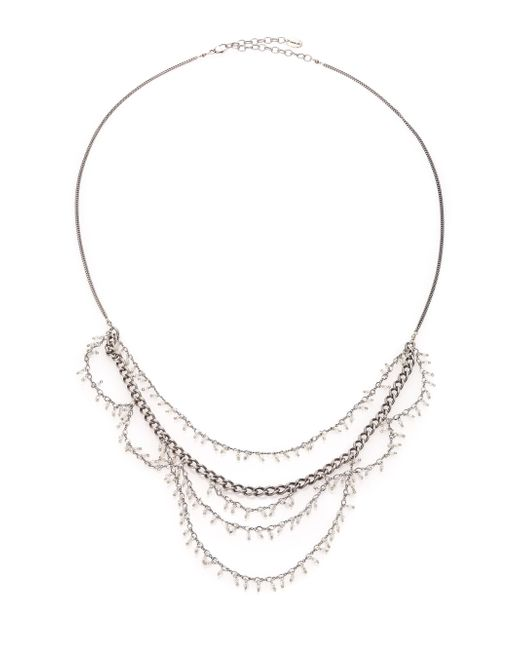 Chan Luu - Metallic Sterling Silver Tiered Bead Necklace - Lyst
