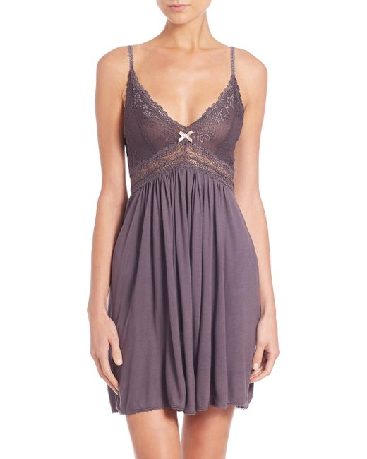 Eberjey - Purple Colette Chemise - Lyst