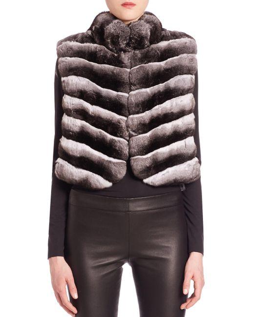 Saks Fifth Avenue | Natural Chinchilla Fur Vest | Lyst