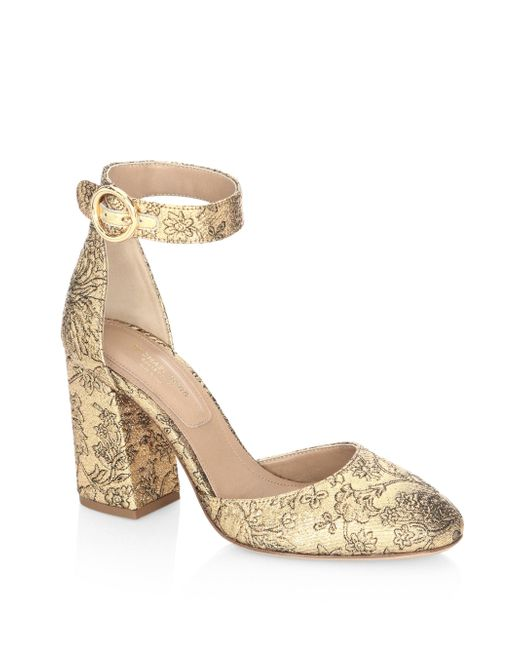 Michael Kors | Metallic Rena Ankle Strap Sandals | Lyst