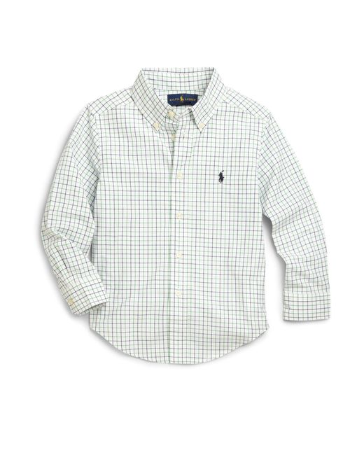 Ralph Lauren | Green Little Boy's Tattersall Dress Shirt for Men | Lyst