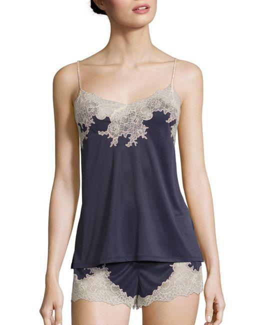Natori - Blue Enchant Camisole Pajamas - Lyst