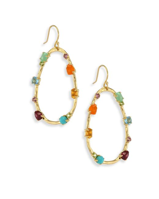 Ippolita | Metallic 18k Rock Candy Semi-precious Multi-stone Large Frame Earrings | Lyst