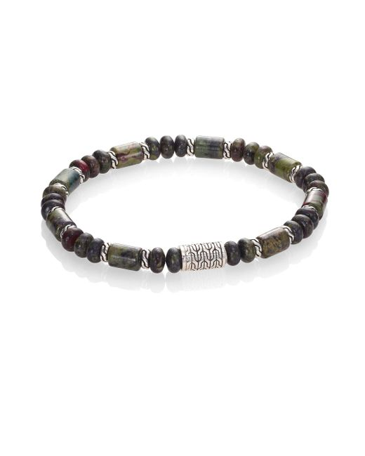John Hardy | Metallic Classic Chain Collection Beaded Sterling Silver Bracelet | Lyst