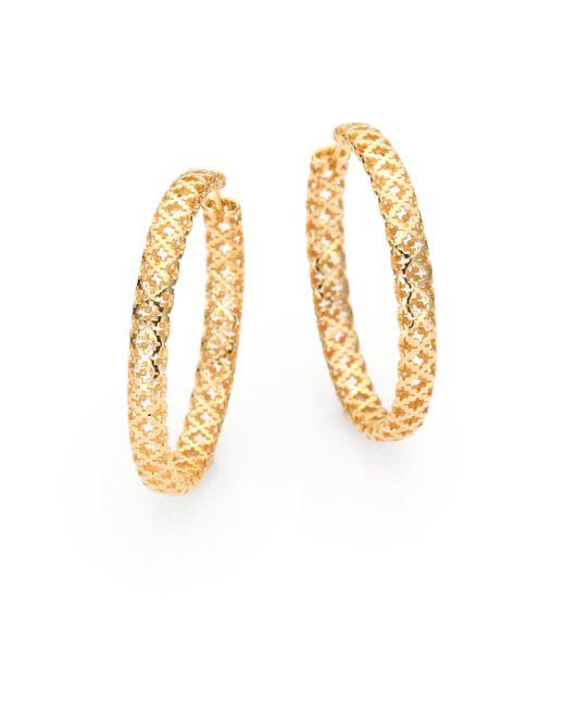 Gucci - Metallic Diamantissima 18k Yellow Gold Hoop Earrings/1.5 - Lyst