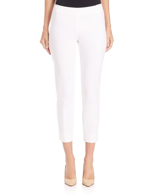 Lafayette 148 New York - White Stanton Bi-stretch Pants - Lyst
