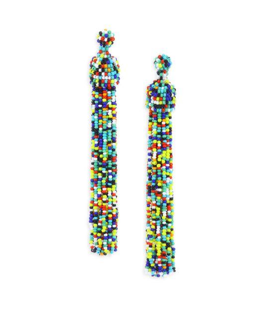 Kenneth Jay Lane - Multicolor Beaded Tassel Earrings - Lyst