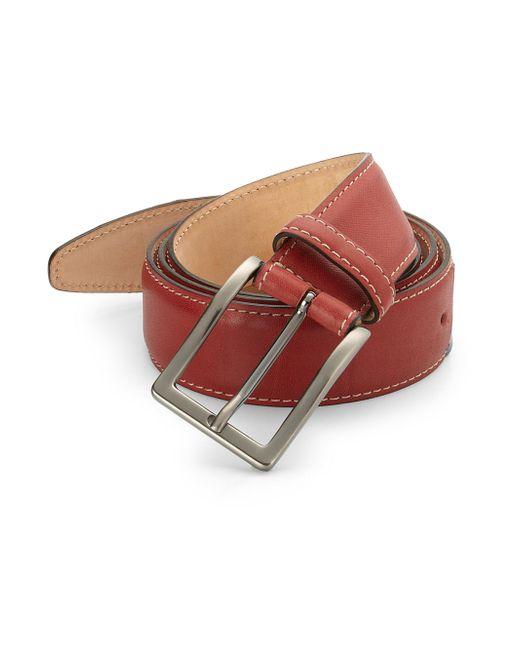 Saks Fifth Avenue | Red Leather Belt for Men | Lyst