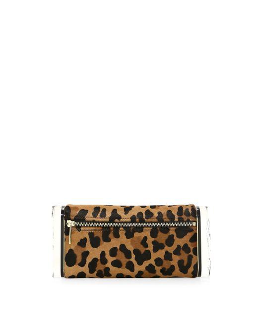 Edie Parker - Multicolor Leopard Print Calf Hair Pencil Case - Lyst