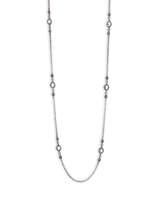 Konstantino Metallic Pythia Crystal, Corundum & Sterling Silver Rope Necklace