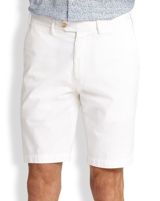 Saks Fifth Avenue - White Cotton Oxford Shorts for Men - Lyst