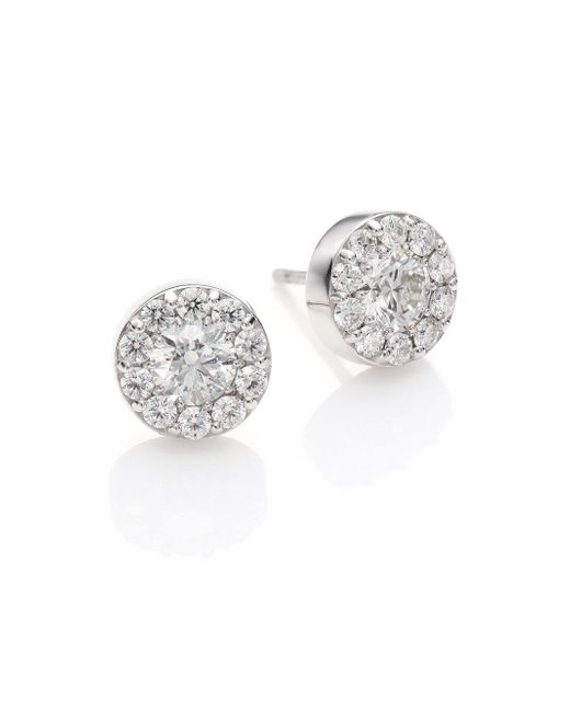 Hearts On Fire - Metallic Fulfillment Diamond & 18k White Gold Stud Earrings - Lyst