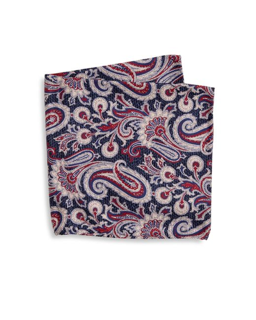 Saks Fifth Avenue - Blue Collection Paisley Cotton Pocket Square for Men - Lyst