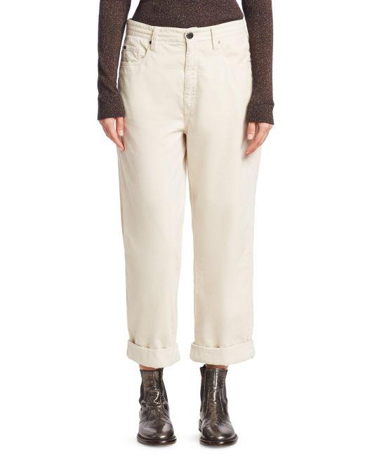 Brunello Cucinelli - Natural Velvet Relaxed Jeans - Lyst