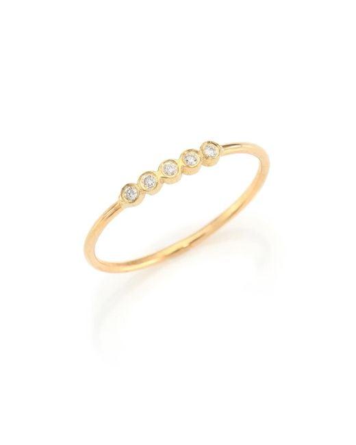 Zoe Chicco | Metallic Diamond & 14k Yellow Gold Ring | Lyst