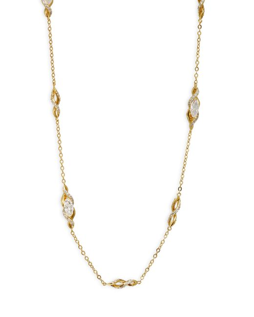 Adriana Orsini - Metallic Swarovski Crystal Long Station Necklace - Lyst