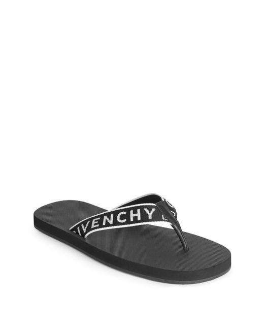 Givenchy - Black Favelas Logo Flip Flops for Men - Lyst