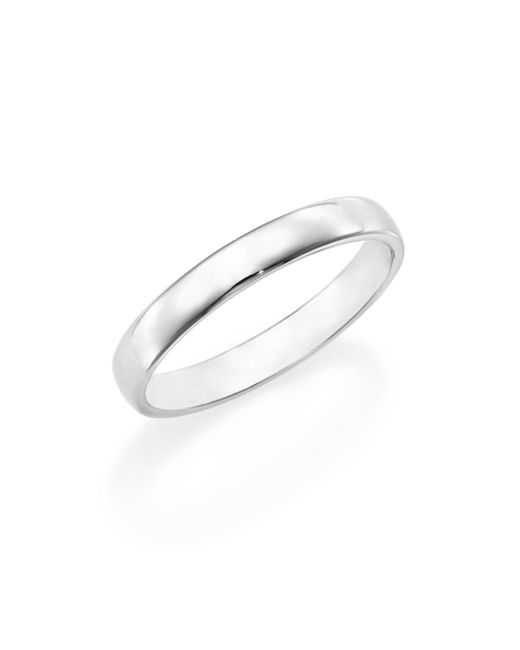 De Beers - Metallic Platinum Wide Court Wedding Band Ring - Lyst