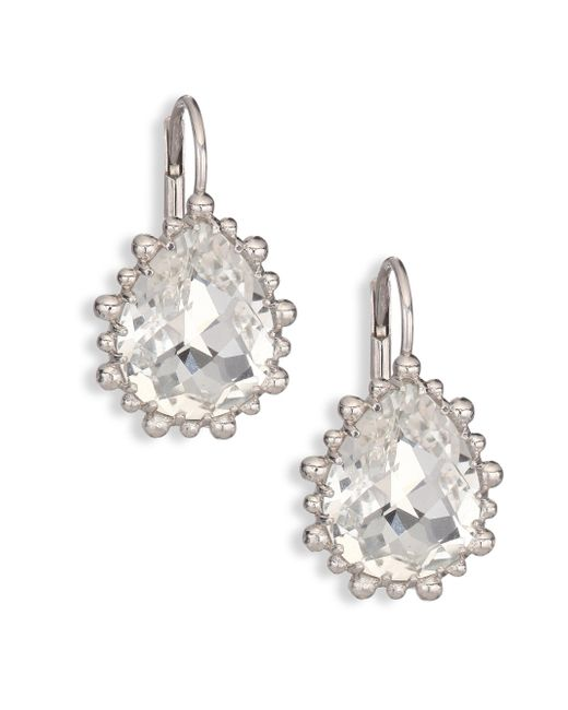 Anzie | Metallic Dew Drop White Topaz Drop Earrings | Lyst