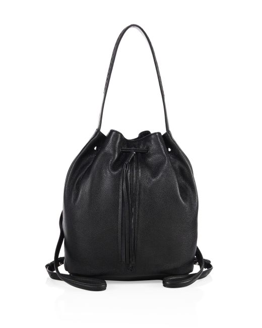 Elizabeth and James | Black Finley Sling Leather Bucket Bag | Lyst