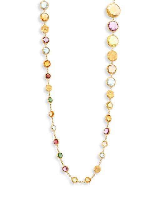 Marco Bicego   Metallic Jaipur Semi-precious Multi-stone & 18k Yellow Gold Necklace/36   Lyst