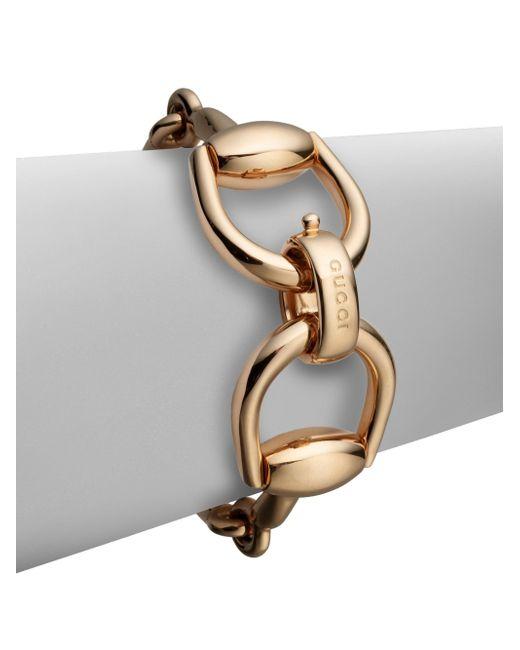 Gucci | Pink Horsebit 18k Rose Gold Bracelet | Lyst