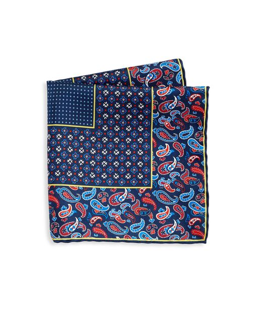 Saks Fifth Avenue | Blue Collection Silk Paisley Pocket Square for Men | Lyst