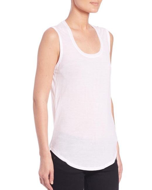 ATM - White Sweetheart Tank Top - Lyst