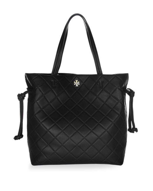 Tory Burch - Black Georgia Slouchy Leather Shoulder Bag - Lyst