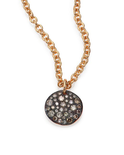 Pomellato - Pink Sabbia Brown Diamond & 18k Rose Gold Pendant - Lyst