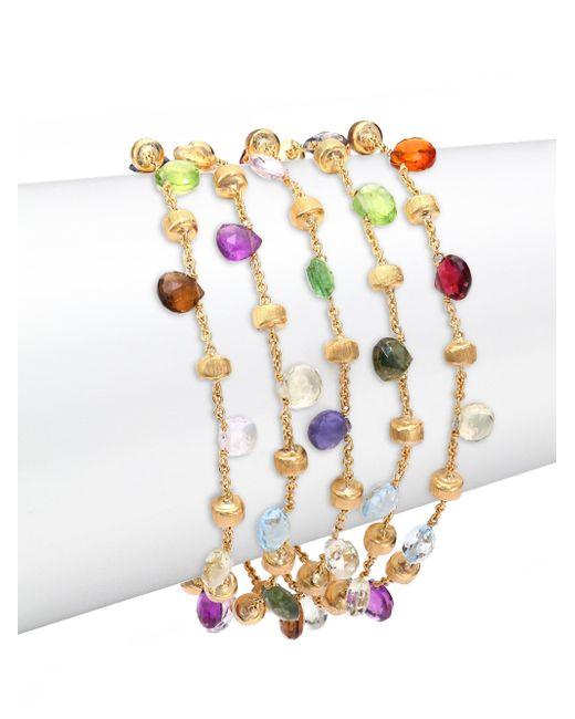 Marco Bicego | Multicolor Paradise Semi-precious Multi-stone & 18k Yellow Gold Multi-strand Bracelet | Lyst