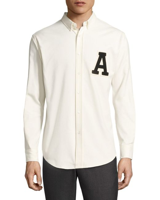 AMI | White Regular-fit Patch Work Shirt for Men | Lyst