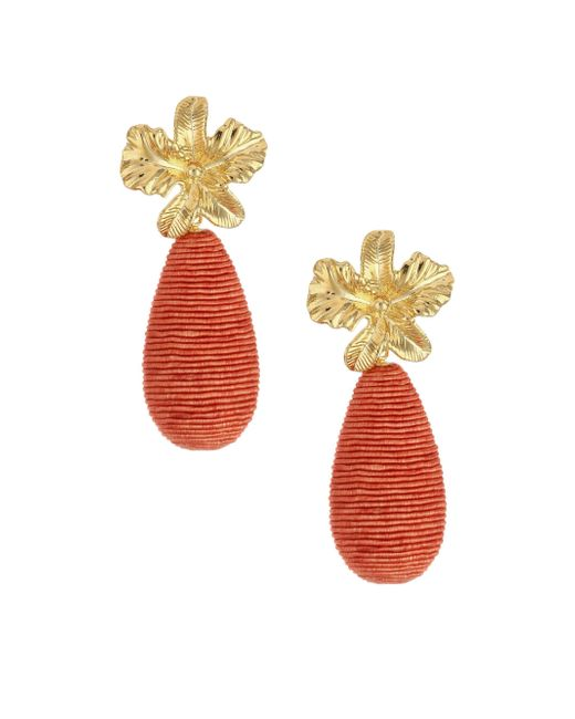Lizzie Fortunato - Metallic Citrus 18k Goldplated Cord Drop Earrings - Lyst