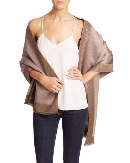 Bajra   Natural Frame Silk & Cashmere Scarf   Lyst