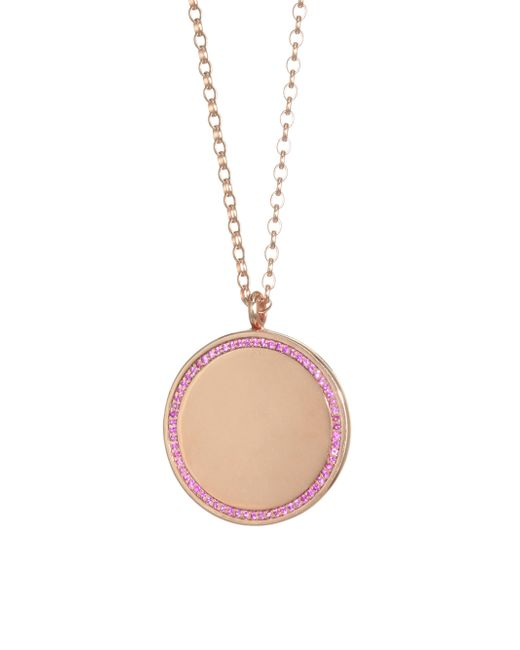 Astley Clarke - Metallic The Cosmos Large Pink Sapphire & 14k Yellow Gold Locket Pendant Necklace - Lyst