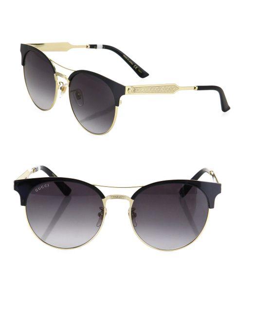 Gucci - Black 56mm Cat Eye Sunglasses - Lyst