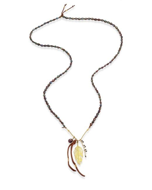 Chan Luu | Peacock Blue & Brown Pearl Necklace | Lyst