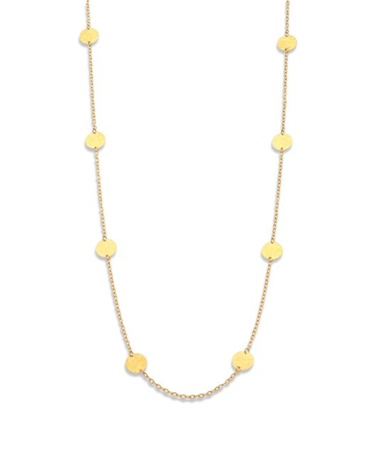 Gurhan - Metallic 24k Yellow Gold Disc Station Necklace - Lyst