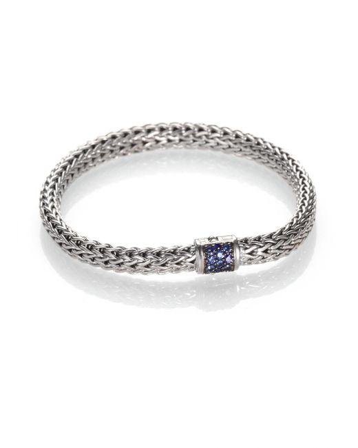 John Hardy - Metallic Classic Chain Sapphire & Sterling Silver Small Bracelet - Lyst