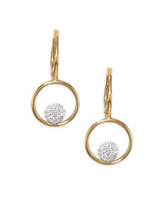 Phillips House - Metallic Affair Diamond Micro Infinity Loop Earrings - Lyst